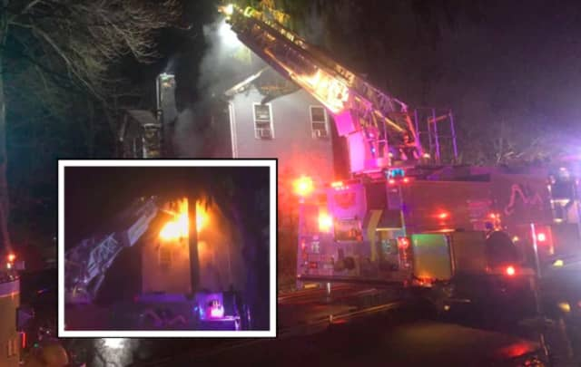 A Parsippany family was displaced in a 2nd-alarm house fire Thursday evening.