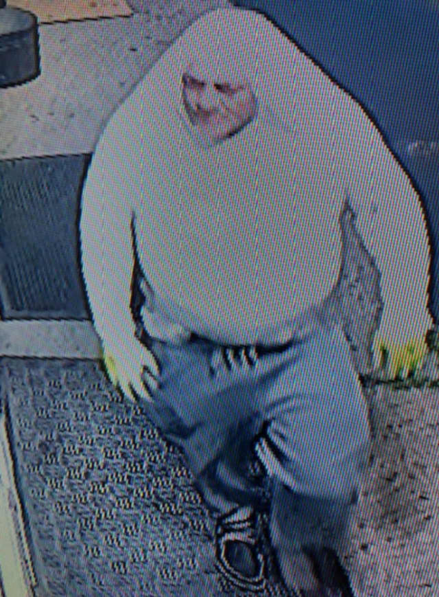 Police are on the lookout for a man suspected of smashing the front glass door of Gorgeous Salon in West Islip (777 Udall Road) and taking a cash register on Sunday, Aug. 11 around 4:30 a.m.
