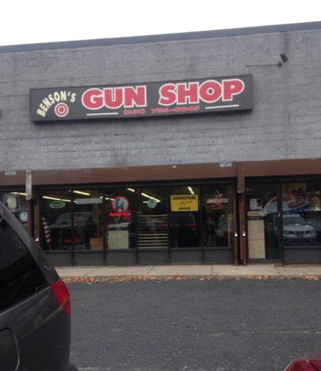 A convicted felon from Mastic attempted to illegally purchase a gun at Benson's Gun Shop in Coram.
