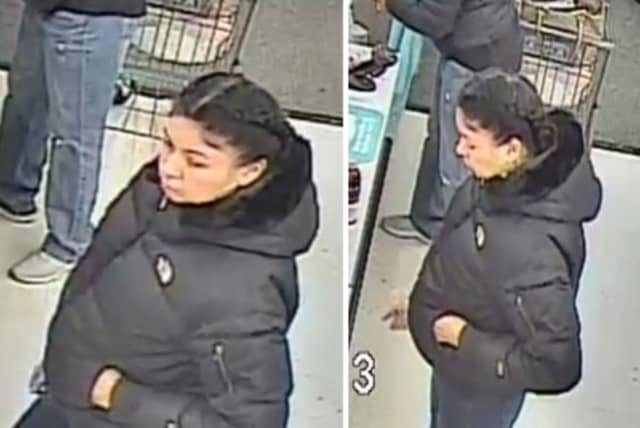 Police are on the lookout for a woman accused of using stolen credit cards at Walgreens and CVS in Centereach on Sunday, Nov. 17 around 9 p.m.