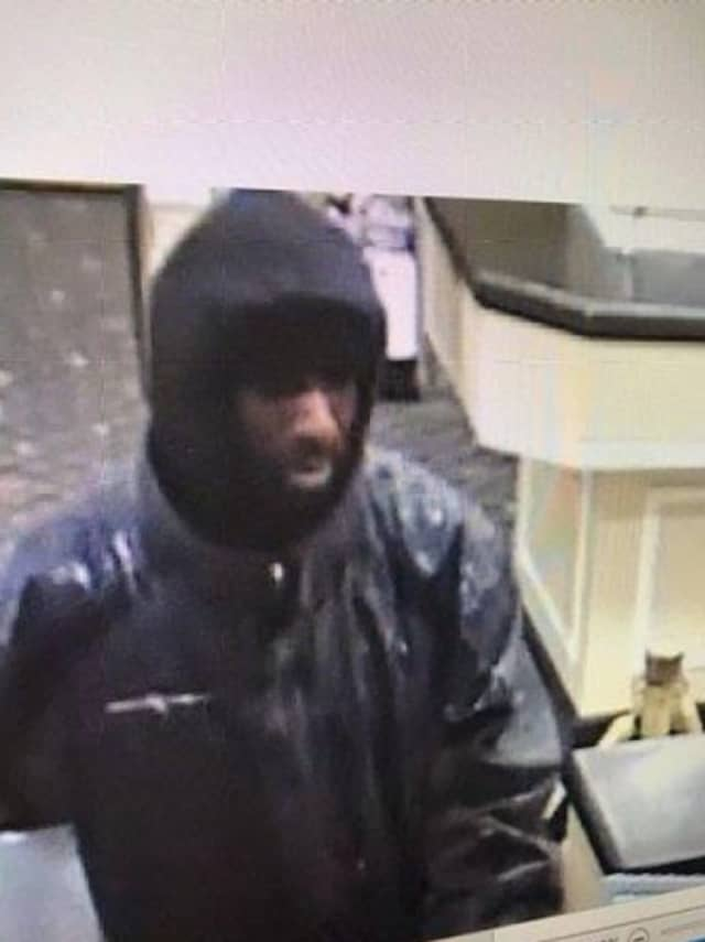 A bank robbery suspect is wanted by police in Nassau County.