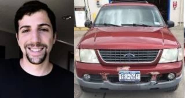 Justin Gottlieb and the vehicle he was driving at the time of his death.