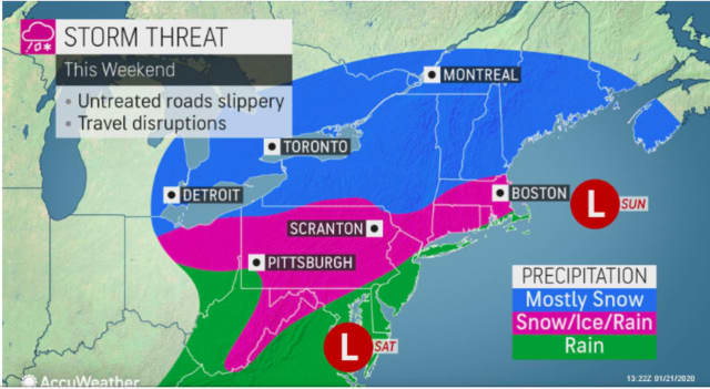 A look at the winter storm threat for this weekend.