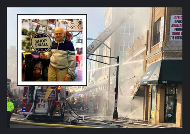 Roxy Florist owner Nick Zois is responsible for Bloomfield's thriving downtown, doubling as the landlord of 55 Washington St. He spent Tuesday morning watching his building burn to the ground.