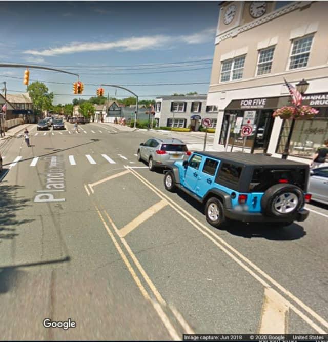 Plandome Road near Park Avenue in Manhasset.