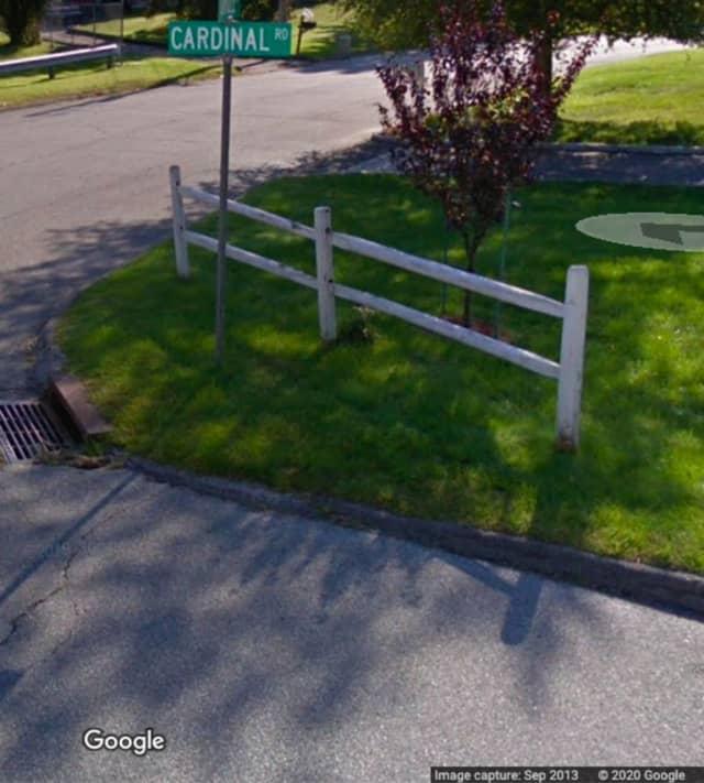 Cardinal Road in Cortlandt.
