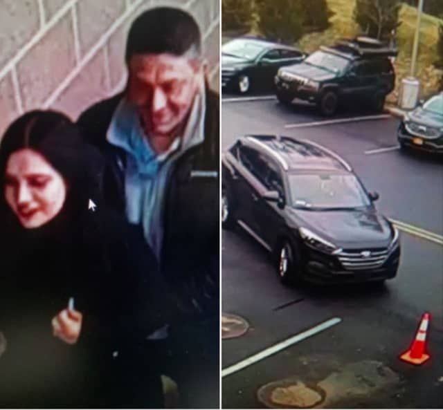 The woman and man pictured are wanted for questioning regarding suspicious activity at ShopRite. They may be operating a dark-colored Kia sports utility vehicle.