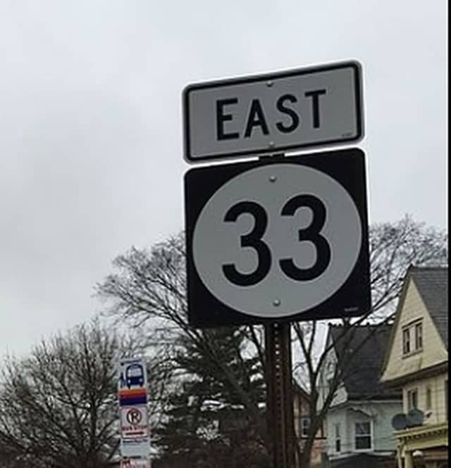 Route 33 eastbound