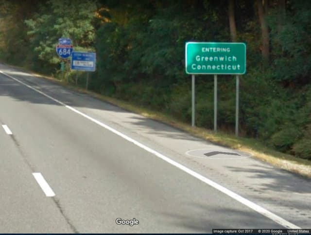 The start of the mile-long stretch of I-684 in Greenwich.