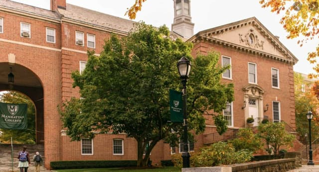 A man is on the loose after watching female students sleep at Manhattan College