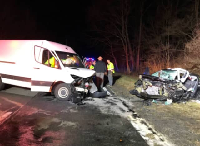 A look at the crash scene on the Taconic.