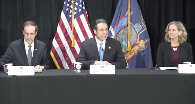 New York Gov. Andrew Cuomo was on Long Island to offer an update on coronavirus in the area.