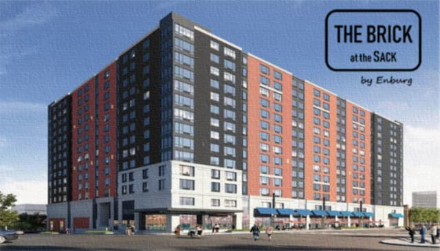 Construction is fully underway for The Brick, a highly-anticipated 14-story residential and retail building on Main Street in Hackensack.