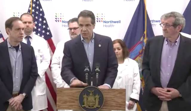 Gov. Andrew Cuomo announced the new numbers in a news conference at Northwell Health Imaging at the Center for Advanced Medicine in North New Hyde Park late Sunday morning, March 8.