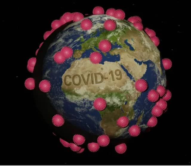The novel strain of the coronavirus (COVID-19).