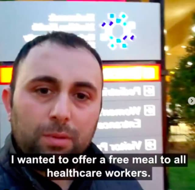 Juicy Platters owner Jaffar Wahdat is offering free meals to all healthcare workers.