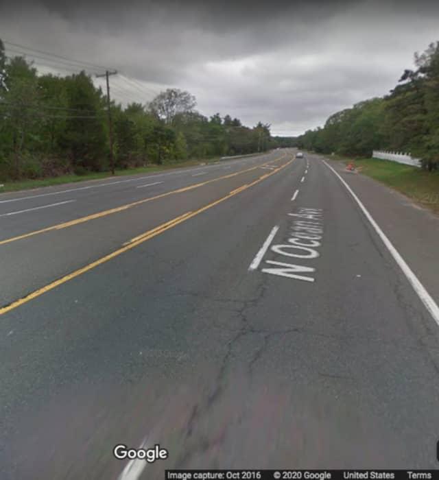 North Ocean Avenue near Fish Road in Holtsville.