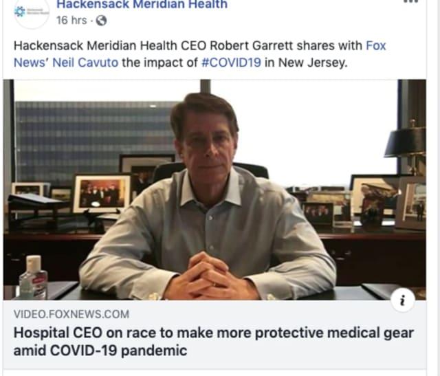 Hackensack Meridian Health CEO Robert Garrett