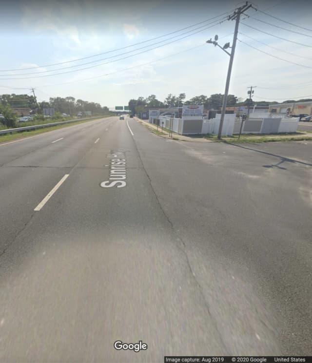 Sunrise Highway and Decker Street in Copiague.