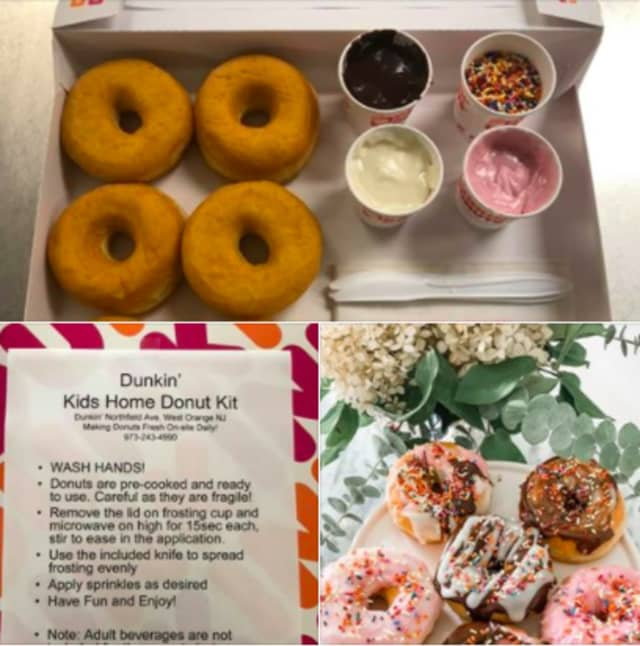 At-home doughnut-making kits from Dunkin' Donuts in West Orange.