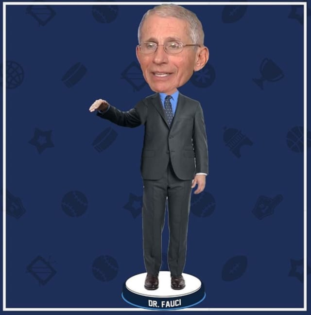 Dr. Anthony Fauci is getting his own bobblehead from the National Bobblehead Hall of Fame with proceeds from the sale being donated to purchase medical supplies.