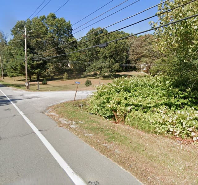 The intersection of Bloomingburg Road and Allen Lane in Wallkill, where the motorcyclist was killed.
