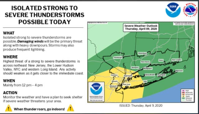 A look at the severe thunderstorms possible on Thursday, April 9.