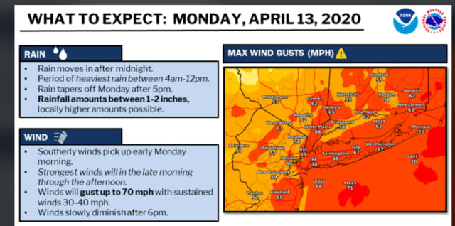 A look at what to expect from the post-Easter Storm on Monday, April 13.