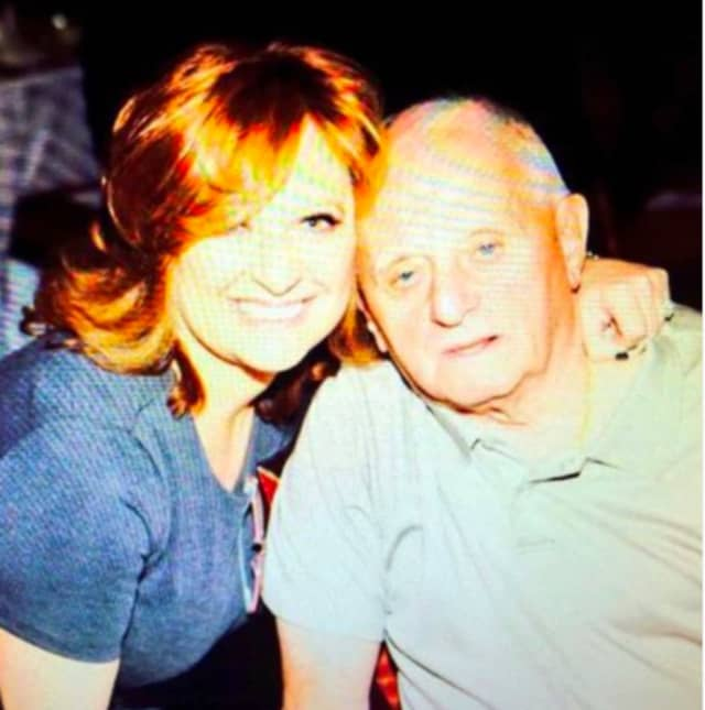 Caroline Manzo with her father, who died Monday, April 20.