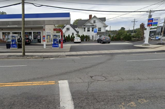 Police are searching for a man who allegedly robbed a gas station at gunpoint.