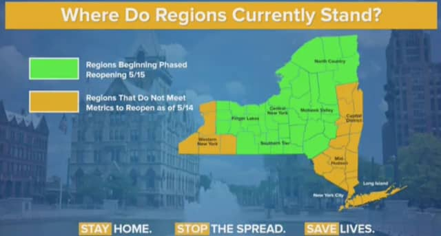 Here's where regions currently stand amid the COVID-19 outbreak.