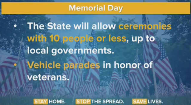 Memorial Day celebrations will have a new look this year due to COVID-19.