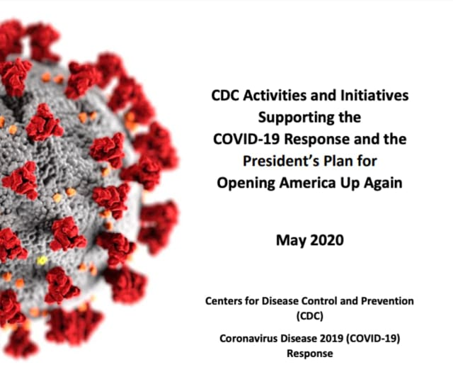 CDC guidelines are included in a 60-page document.