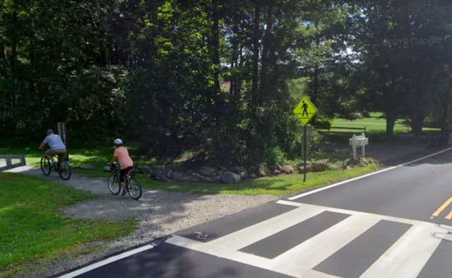 Biking and walking path off of Naughright Road in Long Valley.