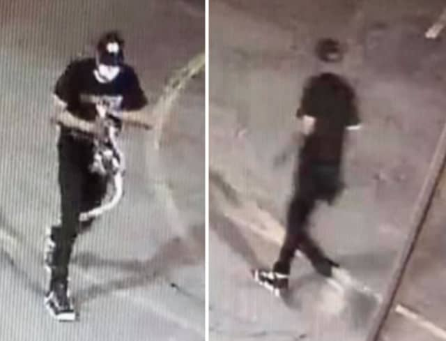 Authorities in Newark are seeking the public's help identifying a man they say stole personal items from a pickup truck after throwing a brick through the window.