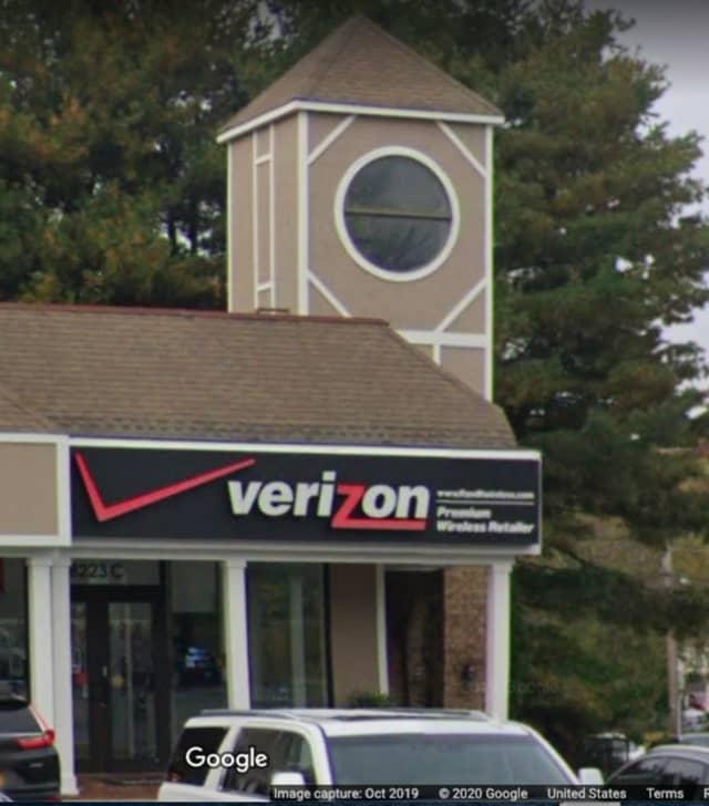 The Verizon store on Jericho Turnpike in Woodbury.