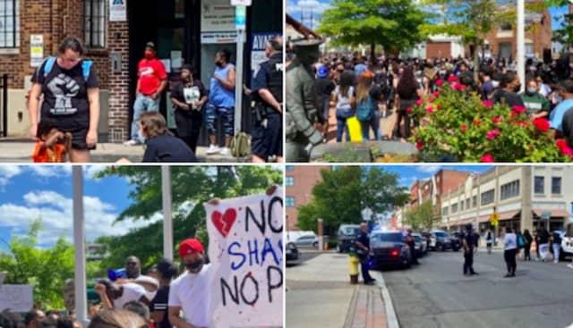 Scenes from protests in Norwalk.