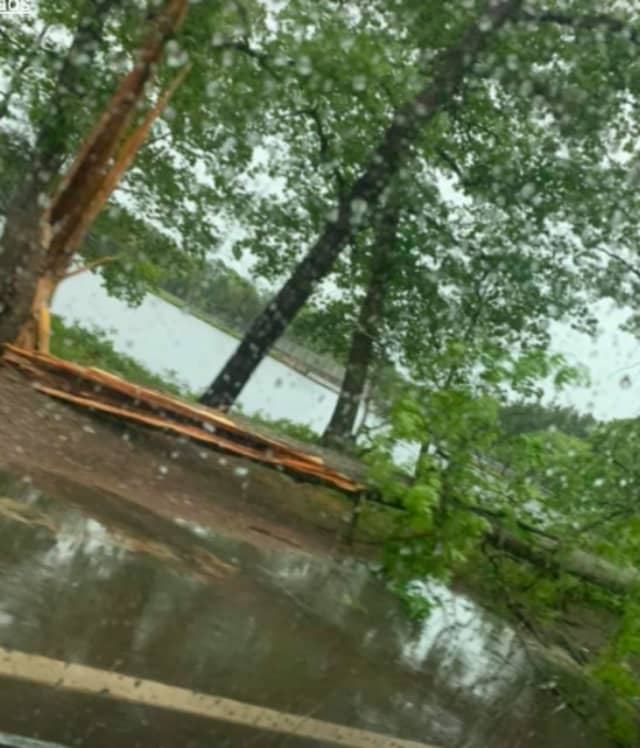 Numerous reports of flooding, crashes and trees down throughout parts of Central Jersey on Wednesday afternoon.