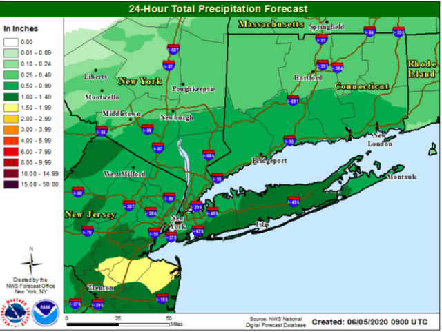 A look at projected rainfall totals.