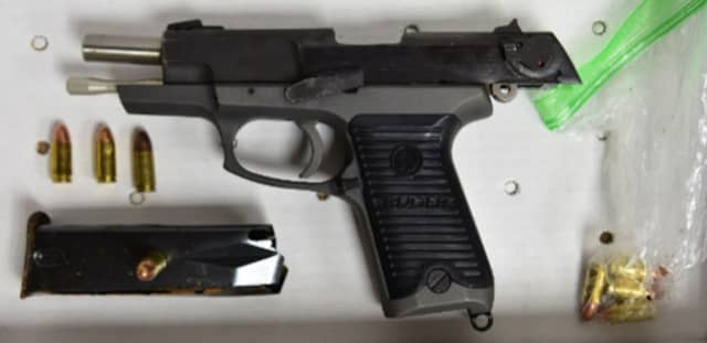 The handgun recovered by police in New Rochelle