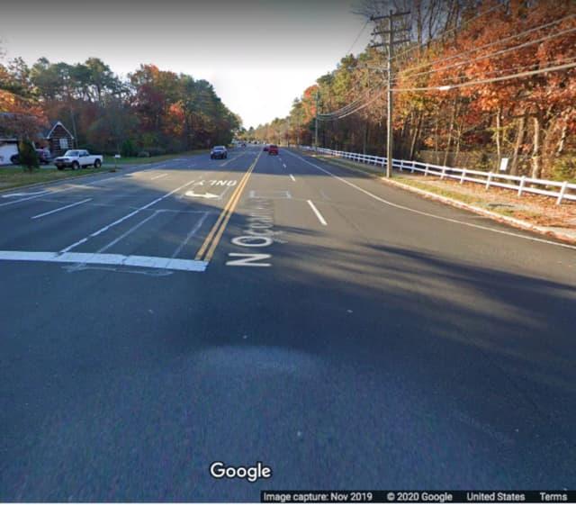 North Ocean Avenue at Fox Ridge Drive in Holtsville.