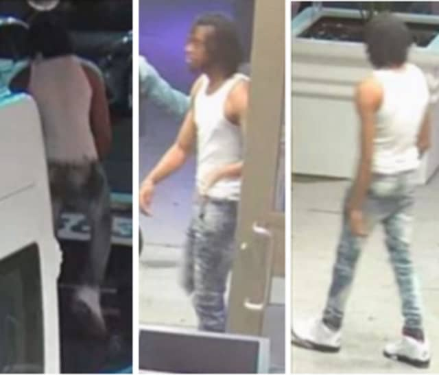 A man, pictured above, damaged a vehicle at the Tryp Hotel on East Park Street on Friday, May 29, Newark Public Safety Director Anthony F. Ambrose said in a release.