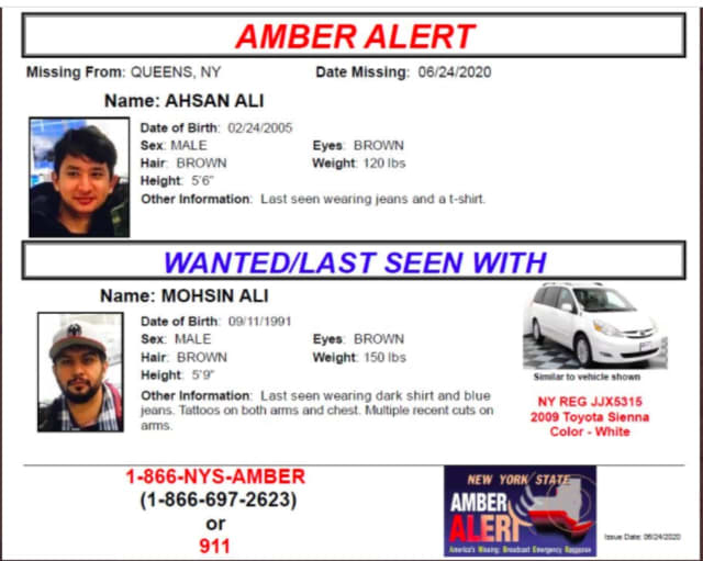 Info for the AMBER Alert.
