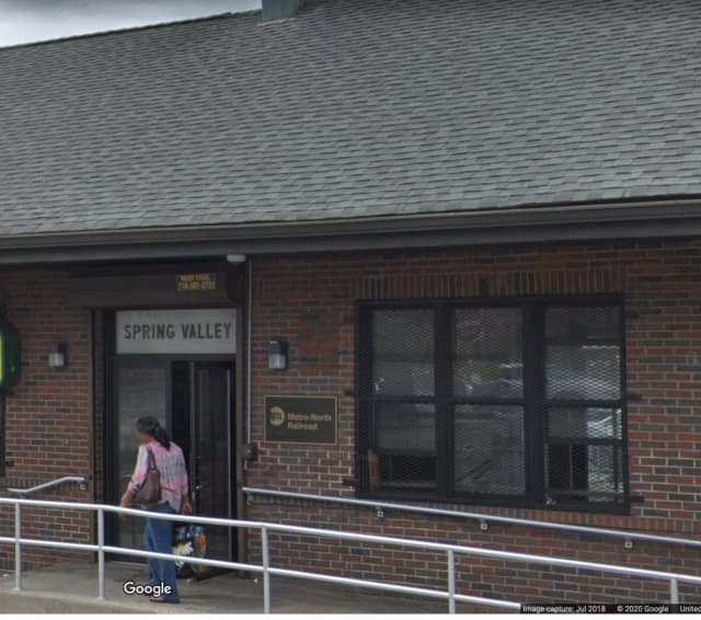 A man was found lying face down and not breathing at the Spring Valley MTA station.