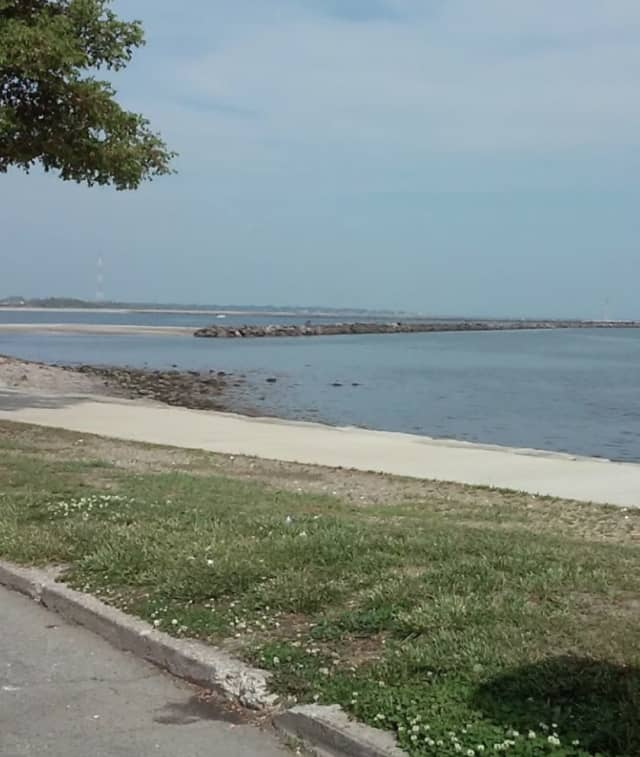 A section of the rocks at Seaside Park in Bridgeport