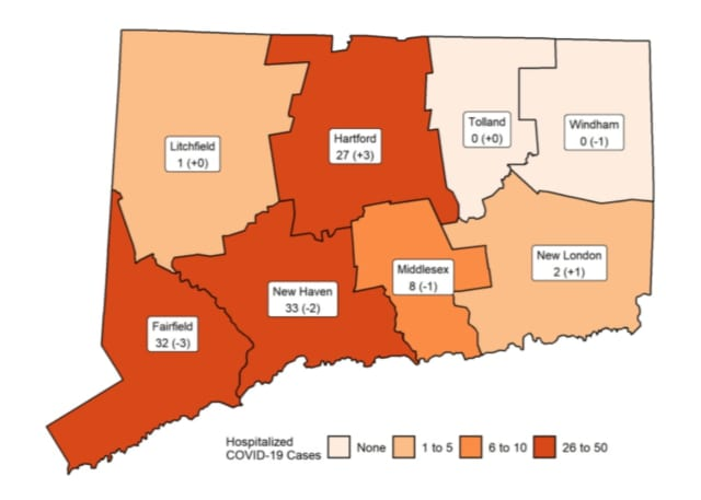 A breakdown of COVID-19 cases in Connecticut.