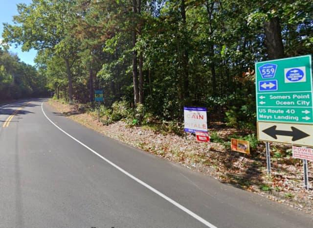 Ocean Heights Avenue near Gravelly Run