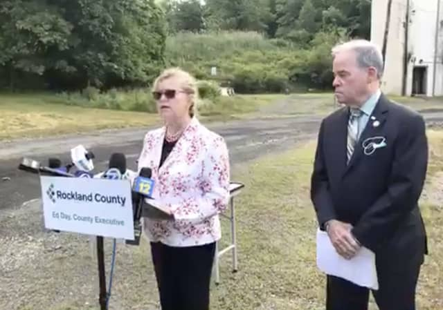 Dr. Patricia Schnabel Ruppert and Rockland County Executive Ed Day discuss a house party that led to a new COVID-19 cluster.