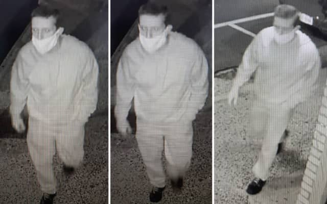 A man is wanted for stealing cash from a Chinese restaurant after breaking in on Long Island.