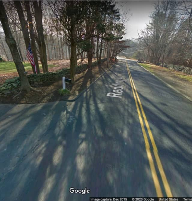 The area of Redding Road where the crash happened.